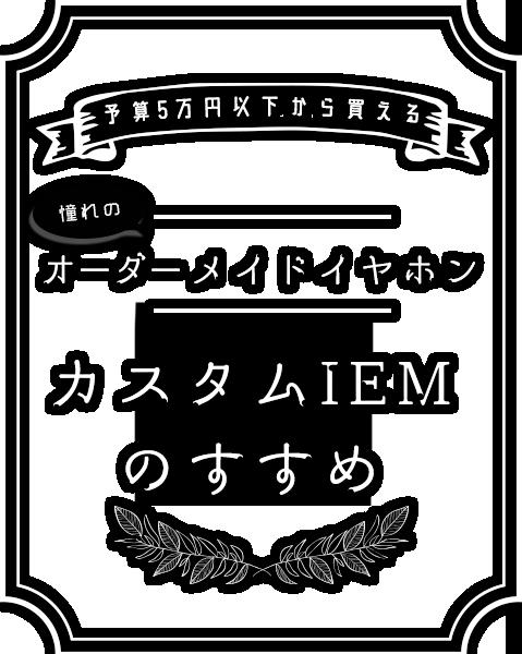 予算5万円以下から買える!憧れのオーダーメイドイヤホン、カスタムIEMのすすめ!